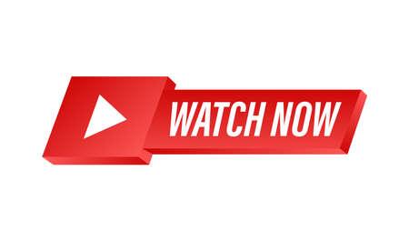 Watch live Badge, icon, stamp logo Vector illustration 向量圖像