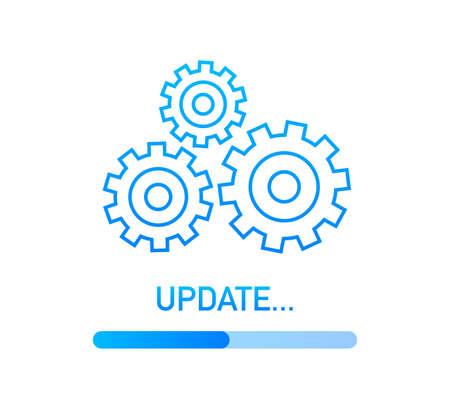 System software update or upgrade. Banner new update, Badge, sign. Vector illustration