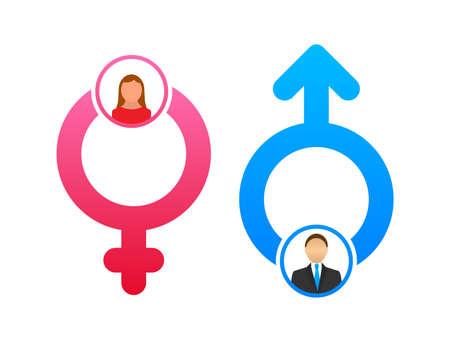 Men and women symbol. Gender icon. Vector stock illustration Ilustrace