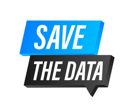 Save the date. Badge, mark on megaphone. Flat vector stock illustrations on white background