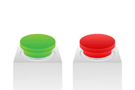 Yes and No button. Feedback concept. Positive feedback concept. Choice button icon. Vector stock illustration Ilustrace