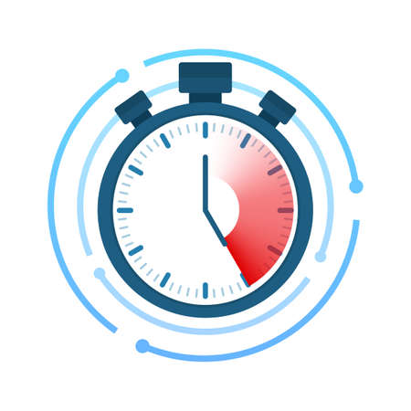 Fast time. Stopwatch icon. Time management. Vector stock illustration Ilustrace