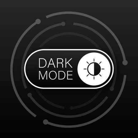 Vector On Off Switch. Dark and Light Mode Switcher for Phone Screens. Toggle Element for Mobile App.