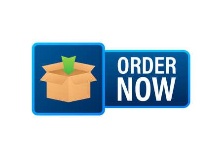 Order now for marketing design. Web, graphic, banner. Website icon symbol. Website template. Vector stock illustration.