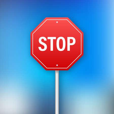 Stop sign for banner design. Information sign. Vector stock illustration. Ilustrace