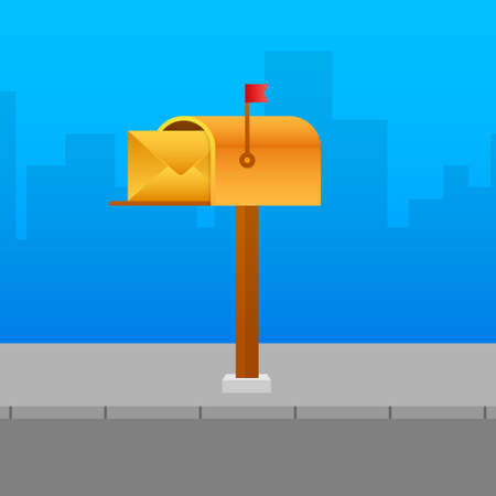 Mail box vector illustration in the flat style. Vector stock illustration. Ilustrace