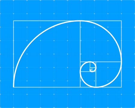 Golden ration. Abstract geometric background. Vector stock illustration. Illustration
