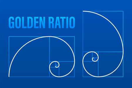 Golden ration. Abstract geometric background. Vector stock illustration. Illusztráció