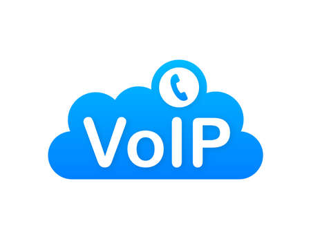 VoIP technology, voice over IP. Internet calling banner. Vector illustration. 矢量图像