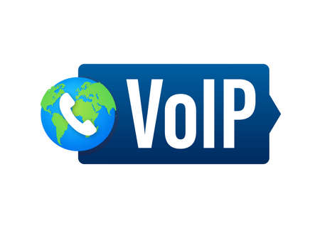 VoIP technology, voice over IP. Internet calling banner. Vector illustration. Illusztráció