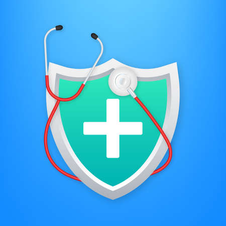 Health insurance. Medical protection, medical insurance concepts. Flat design. Vector stock illustration Illusztráció