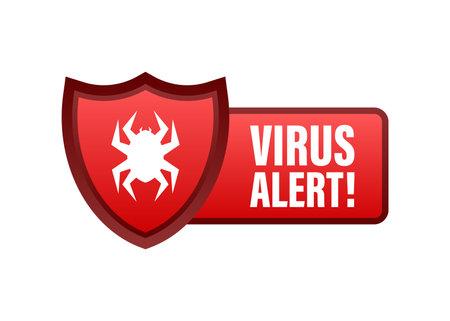 Danger symbol vector illustration. Virus protection. Computer virus alert. Safety internet technology, data secure. Banque d'images - 161674907