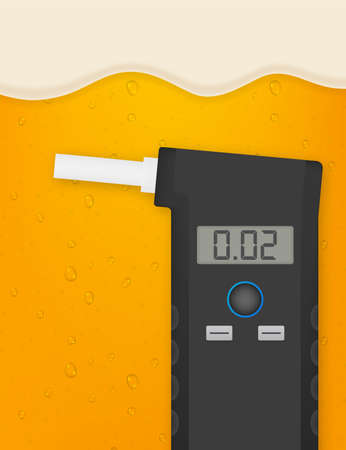 Handheld Breath Alcohol Tester Analyzer Electronic Device. Vector stock illustration. Illusztráció