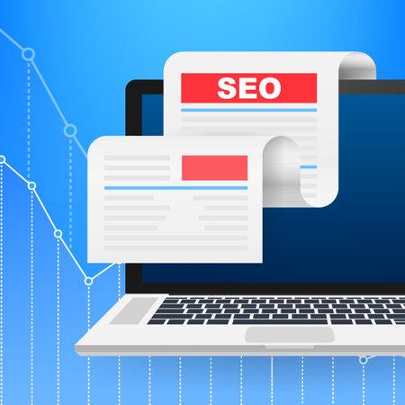 Social media design concept. Search icon vector. Digital marketing illustration. Web design. Vector stock illustration.