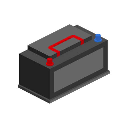 Car Battery icon. Accumulator battery energy power. Vector stock illustration. Illusztráció