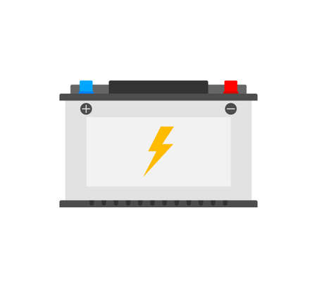 Car Battery icon. Accumulator battery energy power. Vector stock illustration. 矢量图像