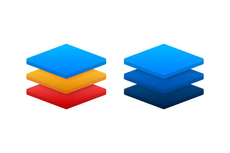 Layers icon, three levels. Vector stock illustration.