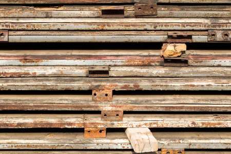 metal structure: Construction site. Steel structure metal Stock Photo