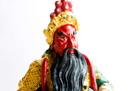 legend: Guan yu god is legend of chinese on white background