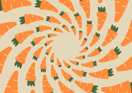utilized: Wallpaper brown  striped circle orange carrots. Can be utilized in various media. Illustration