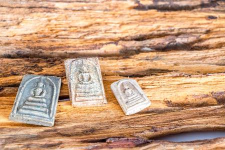Many famous Thai amulet buddha Stock Photo