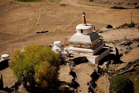 ladakh: roadside stupas in ladakh india Stock Photo