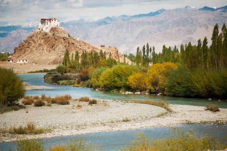 The scenic view of Stakna Monastery Leh Ladakh ,India photo