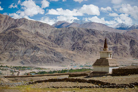 road side: old gompa road side on the way to Hemis Monastery Leh Ladakh ,India Stock Photo