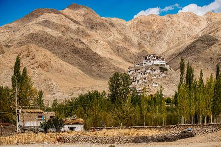 tibetan house: Chemdey gompa, Buddhist monastery in Ladakh, Jammu & Kashmir, India - September ,2014