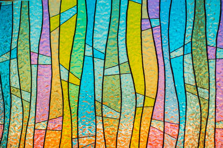 Multicolor stain-glass wallpaper background Фото со стока - 35718704