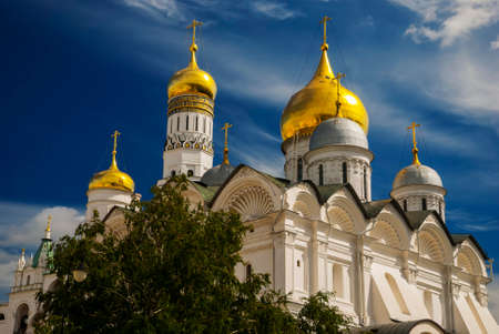 annunciation: The Cathedral of the Annunciation in Kremlin, Moscow, Russia Stock Photo