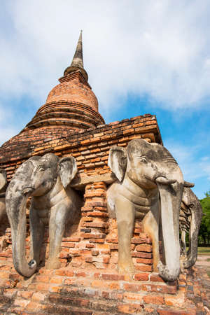 unesco: Sukothai historical park, Unesco world heritage. Chang Rop Temple ,Thailand
