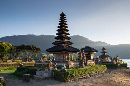 danu: Pura Ulun Danu Bratan Water Temple at sunrise Bali ,Indonesia.