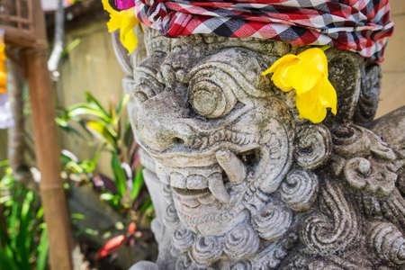 balinese: Close up stone Balinese statue Bali ,Indonesia.