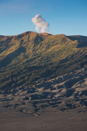 active volcano: Sumeru mountain at sunrise active volcano Java ,Indonesia. Stock Photo