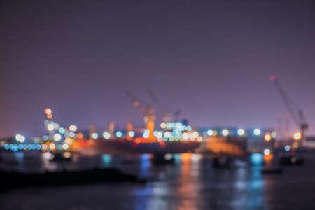 shipyard: De-focus of Lamchabang Shipyard, Chonburi province Thailand. Stock Photo