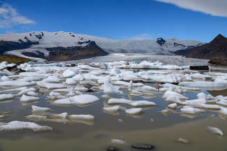Fjallsarlon Glacier Lagoon in Southeast Iceland.