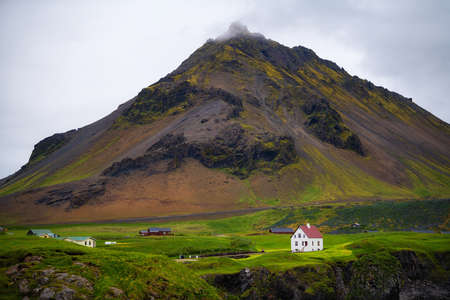 Scenic view of Hellnar fishing village ,Iceland. Фото со стока