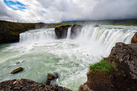 Godafoss is a waterfall in Iceland.