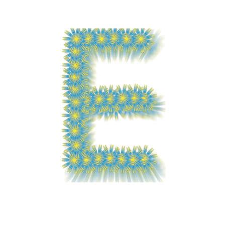Flower font E photo