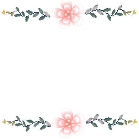 Flower of frame on white background Stockfoto