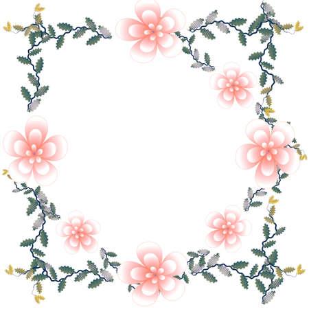 Bloem van frame op witte achtergrond