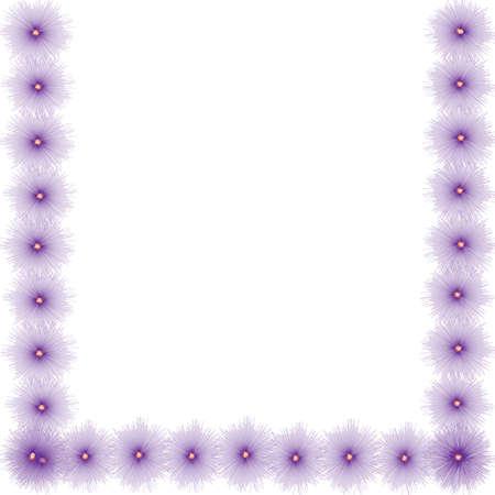 Flower frame van behang op de achtergrond Stockfoto