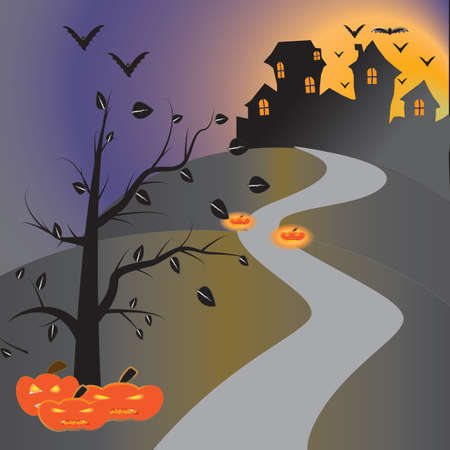Halloween house on night Stock Photo - 15634782