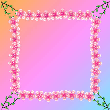 Flower of frame on background photo