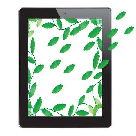 Leaf of frame on tablet Stock Photo - 15635236