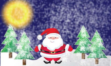 Santa of frame on christmasday photo
