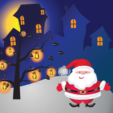 Santa of frame on christmasday Stock Photo - 16454219