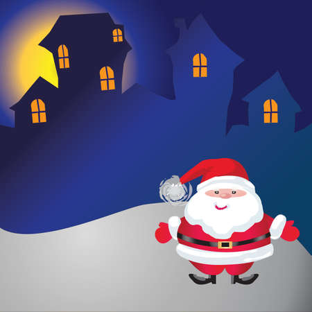 Santa of frame on christmasday Stock Photo - 16454203