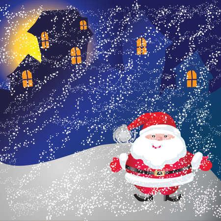 Kerstman van frame op Kerstdag Stockfoto